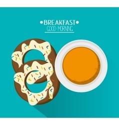 Tea and breakfast design vector