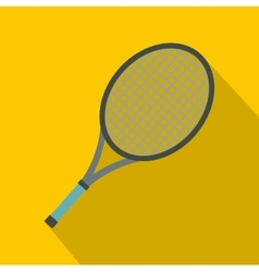Tennis racket icon flat style vector image