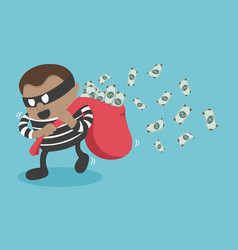Thieves stealing money vector