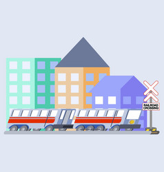 Train flat skew icon vector