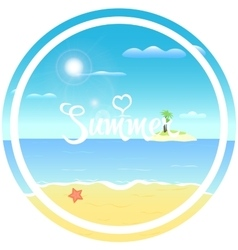 Tropical beach sun vector