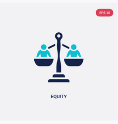 two color equity icon from crowdfunding concept vector image