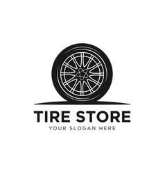 Tyre shop logo design - business branding vector