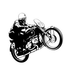 vintage motorcycle racer vector image