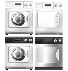 Washing machine and dryer machine vector