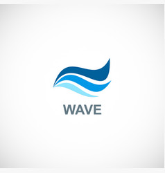 wave water blue logo vector image