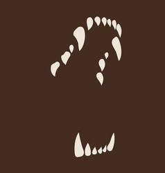 White fang icon isolated on neutral brown vector