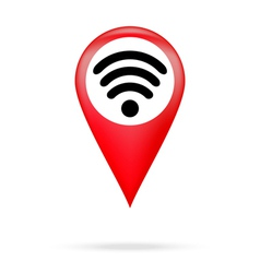 Wi fi icon in red pointer vector image