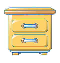 yellow drawer icon cartoon style vector image