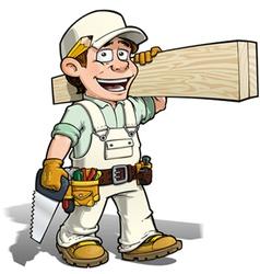 Handyman carpenter white vector