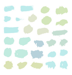 set of pastel paint brush objects vector image