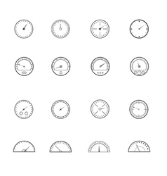 Speedometer and tachometer set vector image