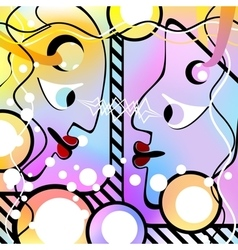 Abstract people look at each other motley version vector