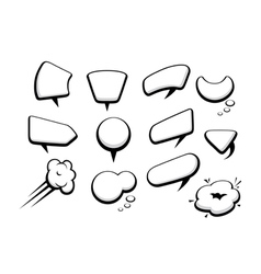 set of many comic cartoon style speech bubbles vector image vector image