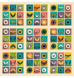 Stylish assembly eagle logo vector image vector image