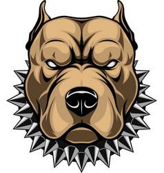 Angry dog head vector