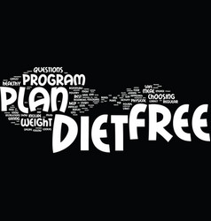 free diet plans how can you find the best one vector image vector image