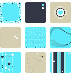 Lovely set of hearts vector image