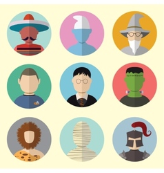 Set of Circle Icons Characters From Fairy Tales vector image vector image