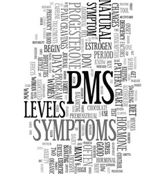 You don t have to suffer with pms text word cloud vector