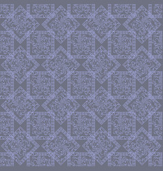 Abstract blue squares and rhombus with ornate vector