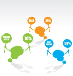 bubble speech sale vector image vector image