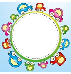colorful child template vector image vector image