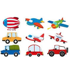 Different kind of transportations vector image vector image