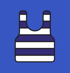 sailor simple shirt with blue stripes on blue vector image vector image