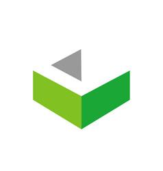 3d letter c logo initial c icon design vector image