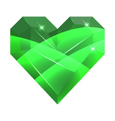 Abstract Valentine Card Heart Gem vector image