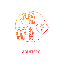 Adultery concept icon vector