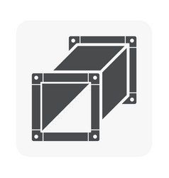 Air duct pipe icon for hvac system vector