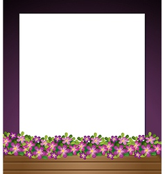 An empty paper template with a garden at the vector image
