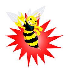 angry bee vector image