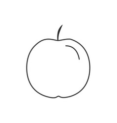 apple icon in black flat outline design vector image