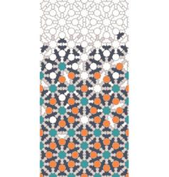 Arabic islamic pattern border decor vector