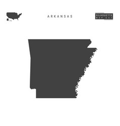 Arkansas us state map isolated on white vector