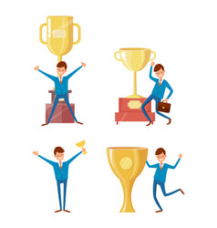 awards in business achieving results people vector image