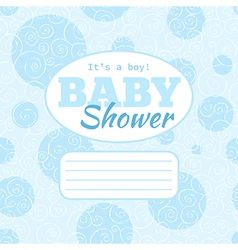baby shower party invitation - baby boy vector image