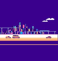 banner urban landscape traffic vector image