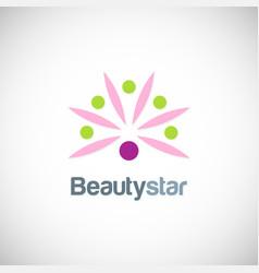 beauty star flower logo vector image