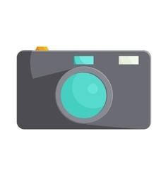 Black camera icon in cartoon style vector image