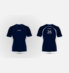 Blue and white layout sport t-shirt kits jersey vector