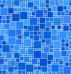Blue square mosaic background vector