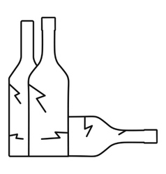 Bottles icon outline style vector image