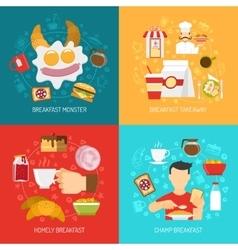 Breakfast Concept Icons Set vector