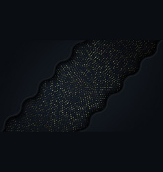 Bright paper cut background with waves layers vector