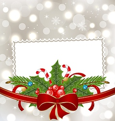 Christmas elegant card with holiday decoration vector image