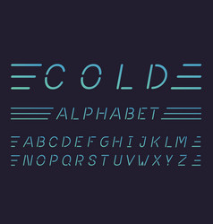cold font alphabet vector image